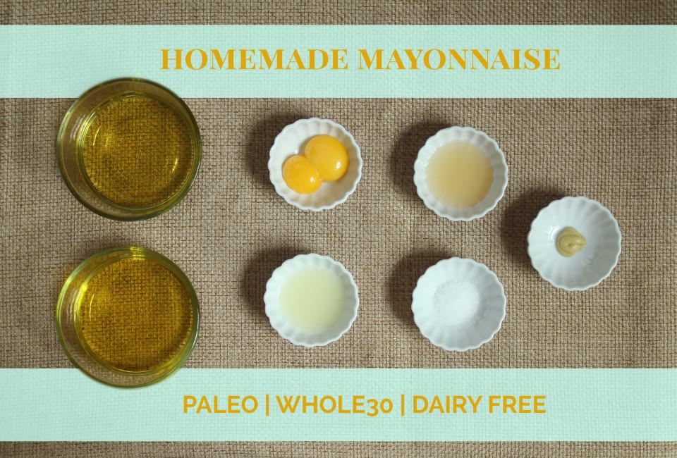 Homemade Olive Oil Mayonnaise #whole30 #whole30recipes #whole30extras #oliveyouwhole