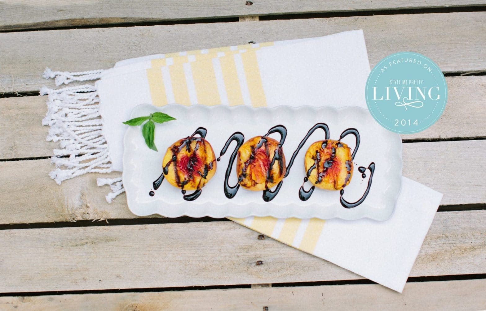 Grilled Peaches | Style Me Pretty Living