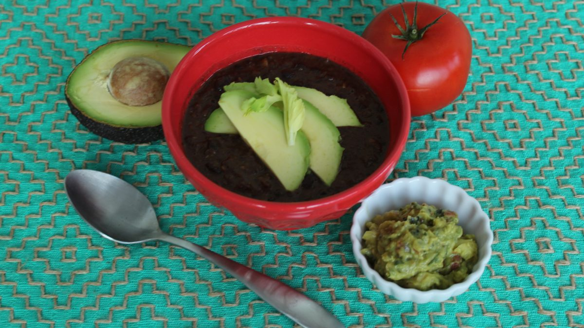 Vegan Black Bean Soup #panera #vegan #veganrecipes #oliveyouwhole
