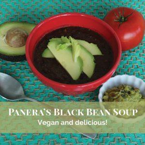 Vegan Panera Black Bean Soup Recipe #panera #panerarecipes #vegan #veganrecipes