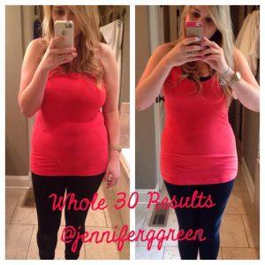 Jennifer Green's Whole30 Results