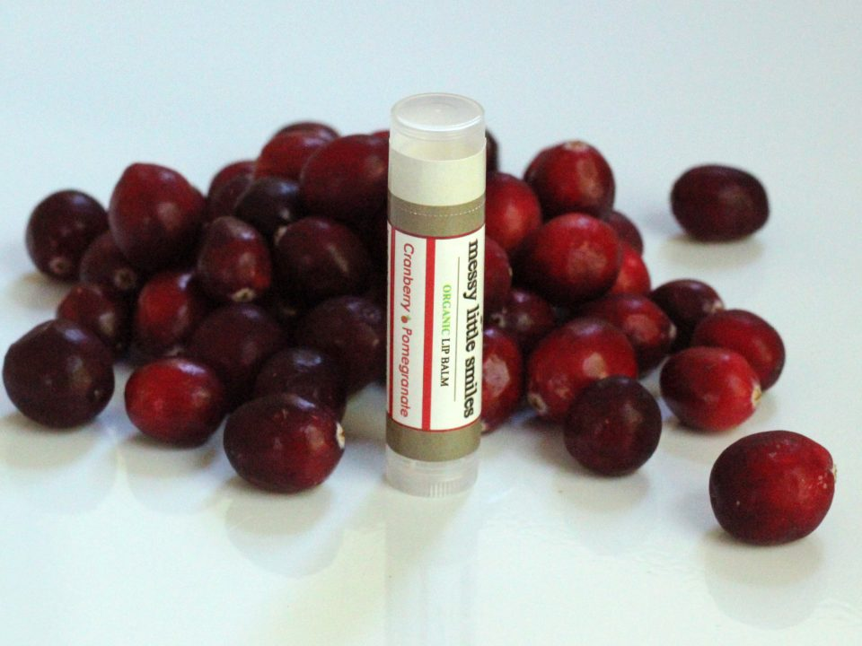 Cranberry Messy Little Smiles Organic Lip Balm