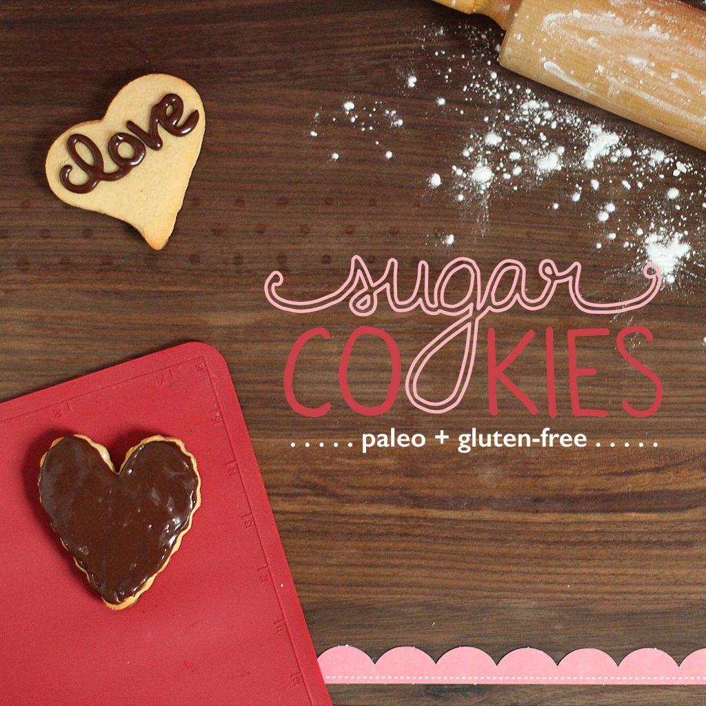 Valentine's Paleo Sugar Cookies #paleo #paleosweets #paleorecipes #oliveyouwhole