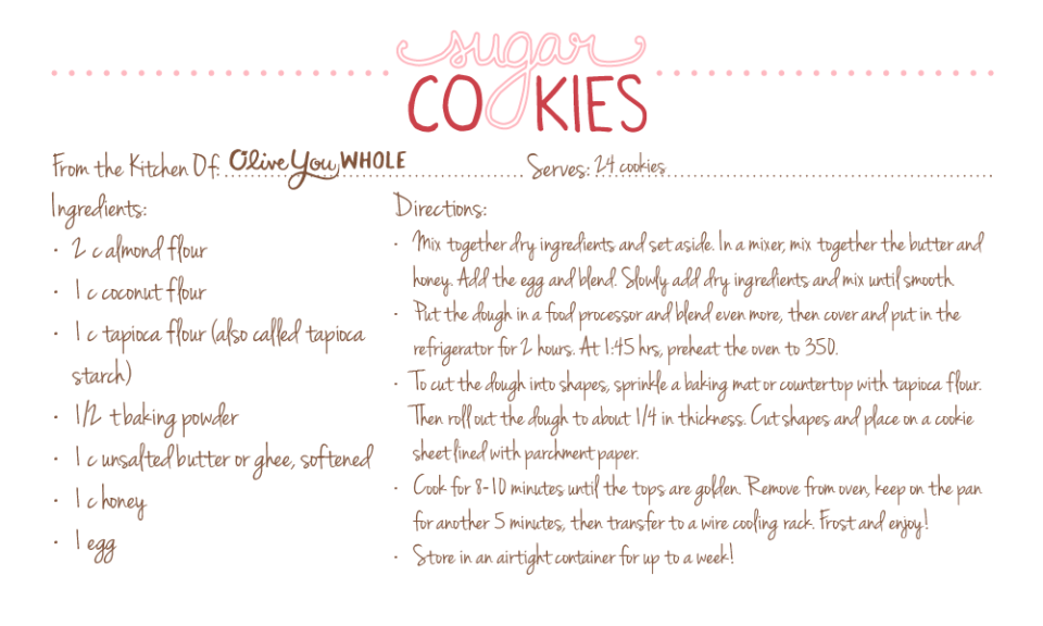 Sugar Cookies Recipe Cards2