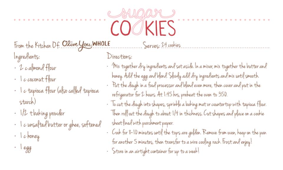 Sugar Cookies Recipe Cards2