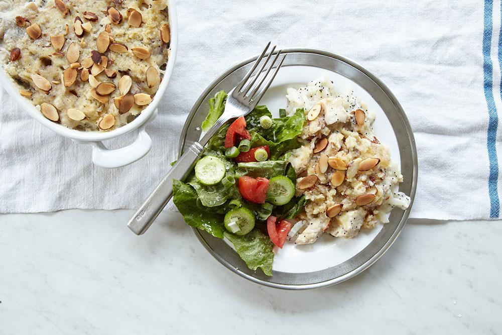 Whole30 + Paleo Poppyseed Chicken Casserole Recipe