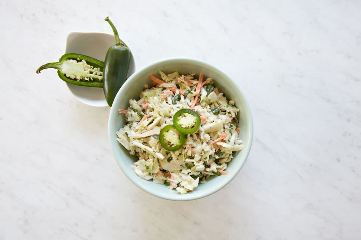 Sweet and Spicy Jalapeño Coleslaw Recipe