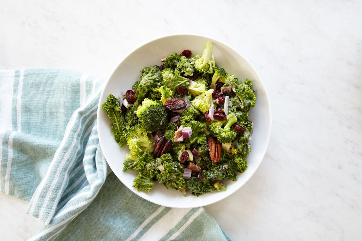 Whole30 + Paleo Kale + Broccoli Salad Recipe