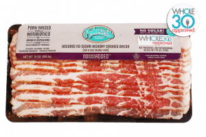 Whole30 Bacon | No-Sugar-Hickory-Smoked-Bacon-W30-Logo