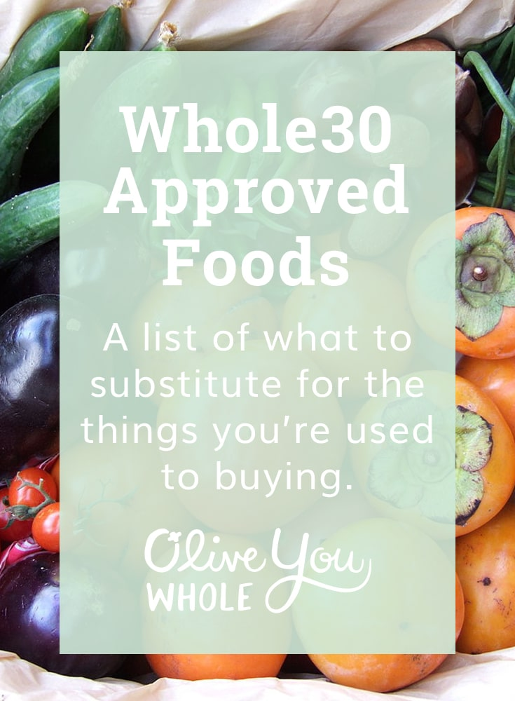 Whole30 Approved Foods List
