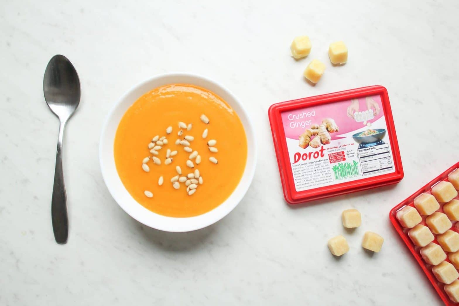 Make things easy with Dorot: Whole30 + Paleo Butternut Squash Soup Recipe