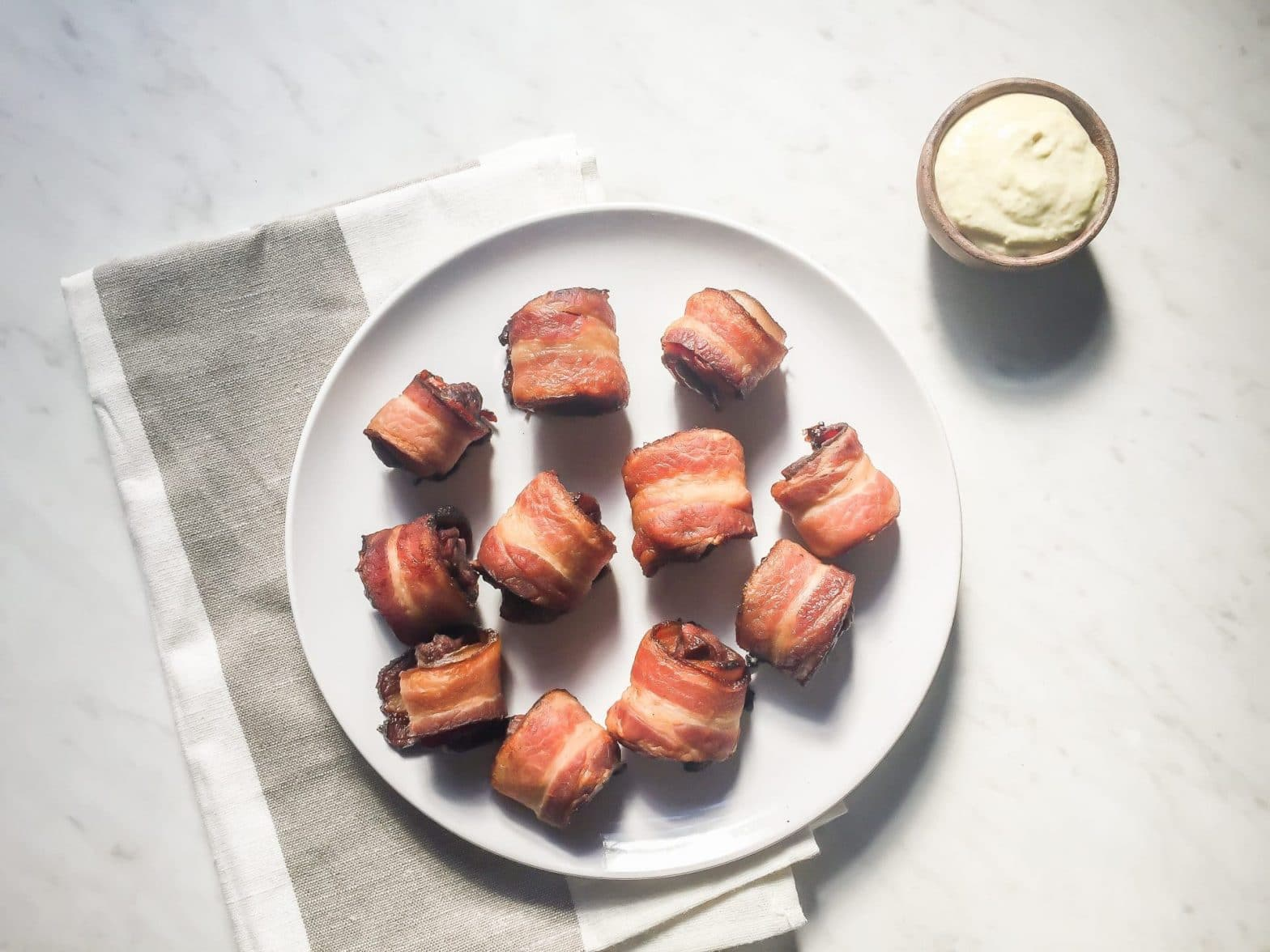 Whole30 Bacon Wrapped Sirloin