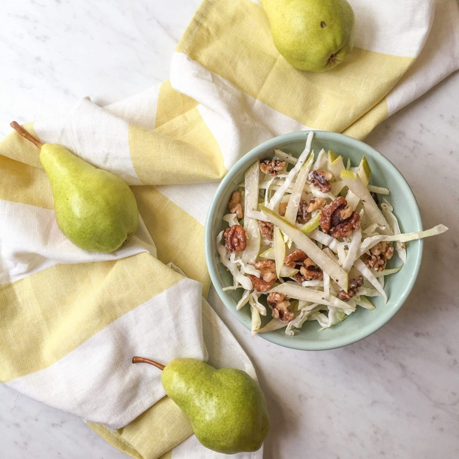 Pear and Walnut Slaw Recipe (Paleo + Whole30!)