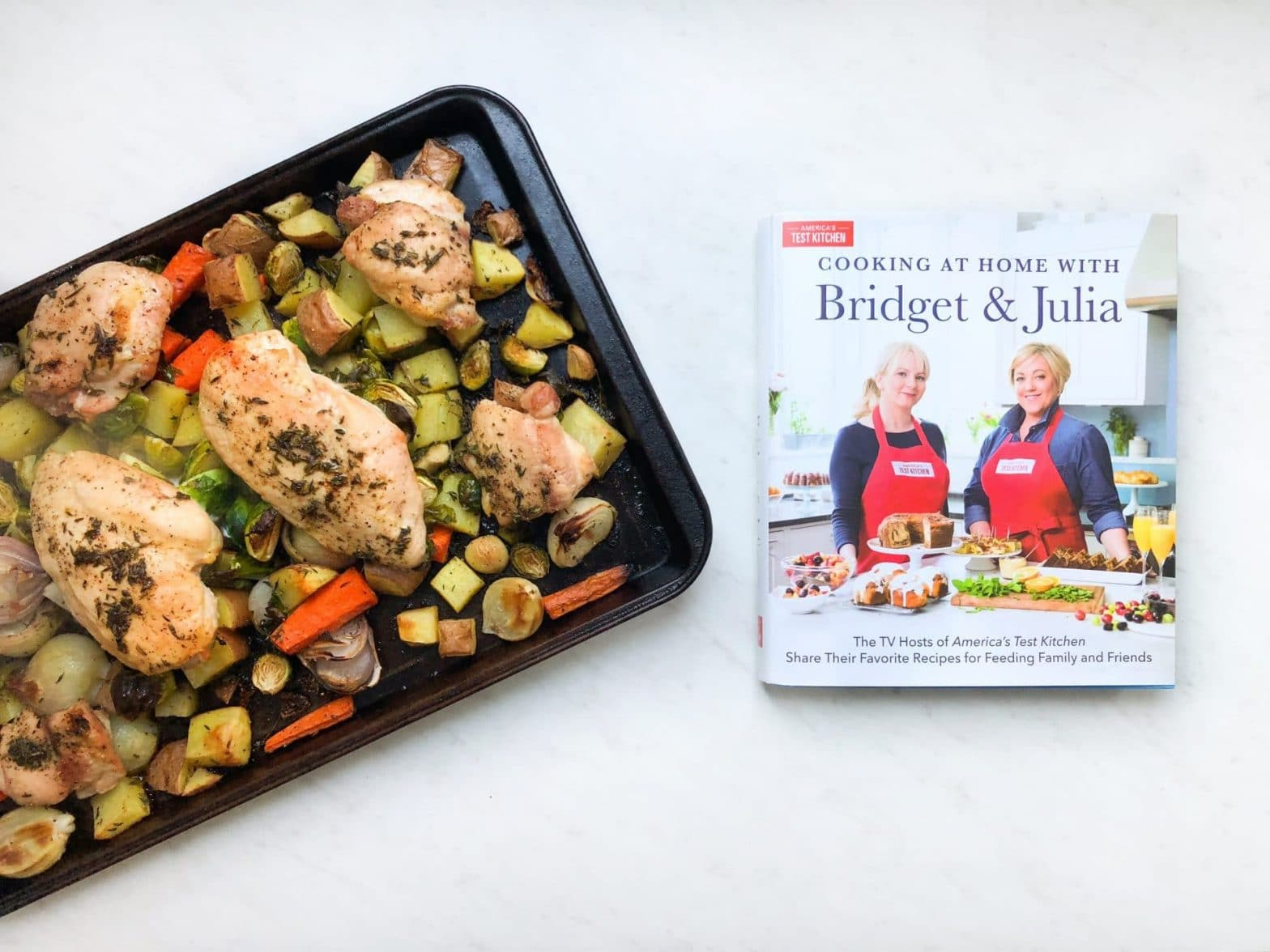 One Pan Roasted Chicken and Root Vegetables Recipe + Cookbook Giveaway