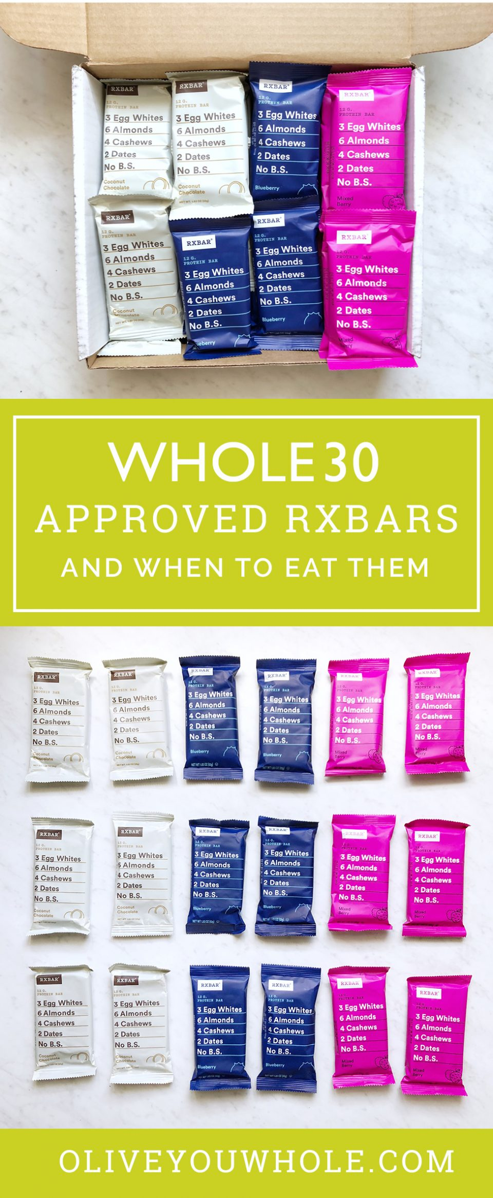 Whole30 RxBars: Which are approved? When can you eat them