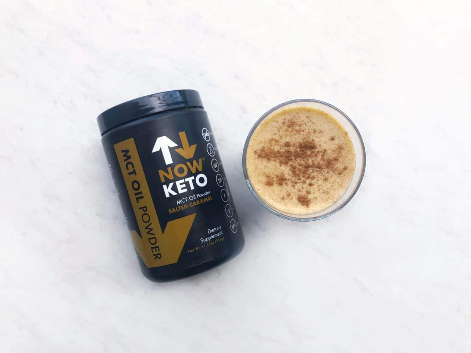 NowKeto MCT Caramel Powder Keto Pumpkin Spice Smoothie Recipe
