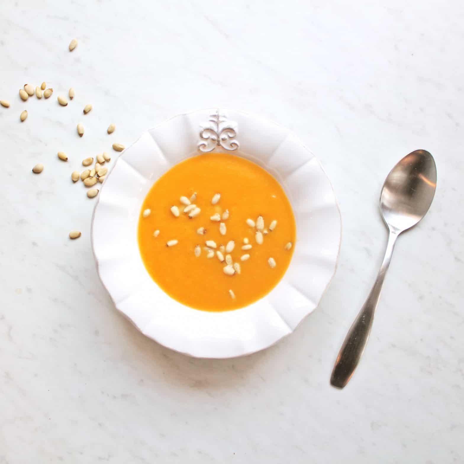 Paleo + Whole30 Orange Ginger Butternut Squash Soup Recipe