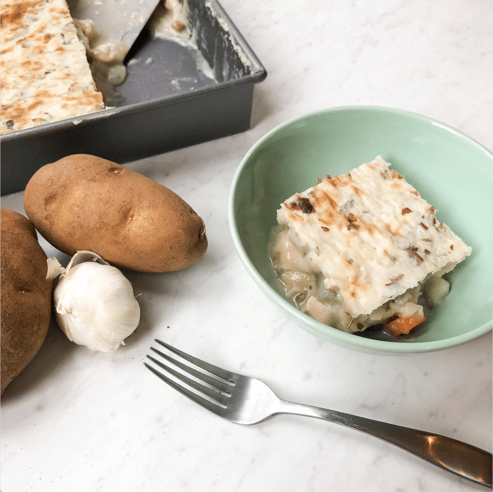 Paleo + Whole30 Chicken Pot Sheperd's Pie Recipe