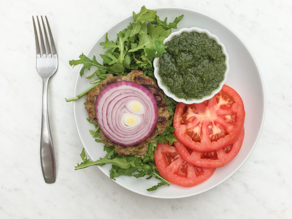 Paleo Whole30 Indian Burger Mint Chutney Recipe