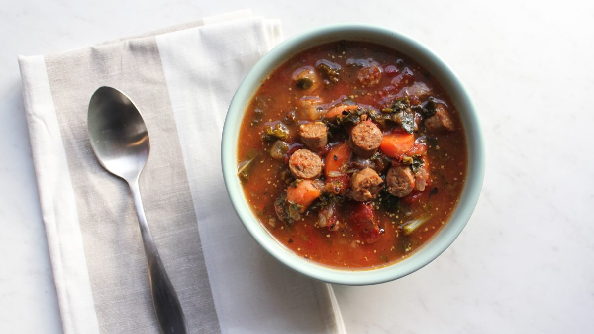 Whole30 Sausage Kale Soup