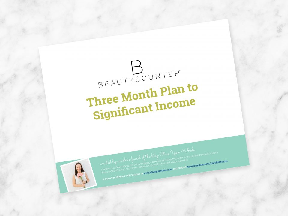 Beautycounter Three Month Plan to Significant Income PDF