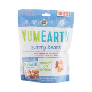 Healthy Halloween Candy YumEarth Organics Family Size Snack Pack Gummy Bears