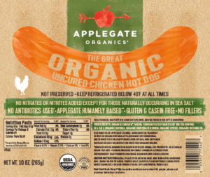 Whole30 Approved Hot Dogs Applegate Chicken