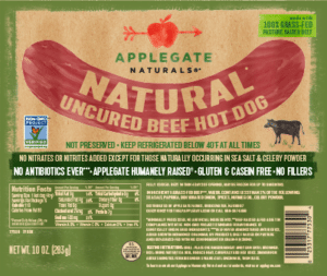 Whole30 Approved Hot Dogs Applegate Naturals Beef