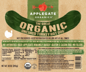 Whole30 Approved Hot Dogs Applegate Turkey