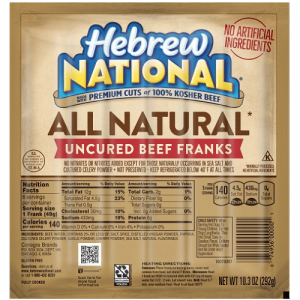 Whole30 Approved Hot Dogs Hebrew National