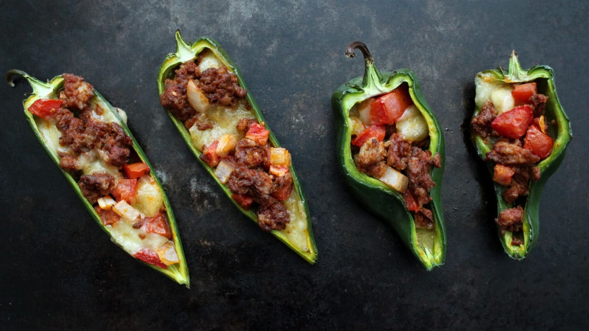 Chorizo Stuffed Poblano Peppers Recipe