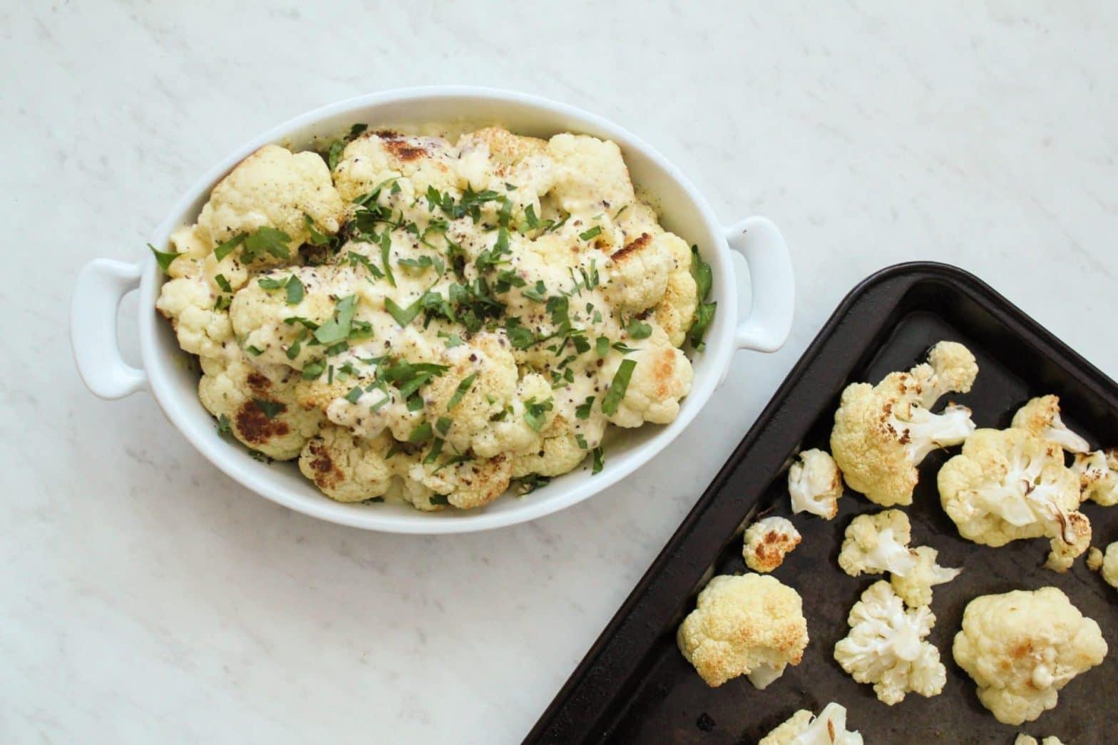 Gluten Free Creamy Roasted Cauliflower Recipe