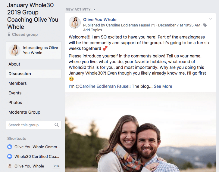 January Whole30 2019 Facebook Group