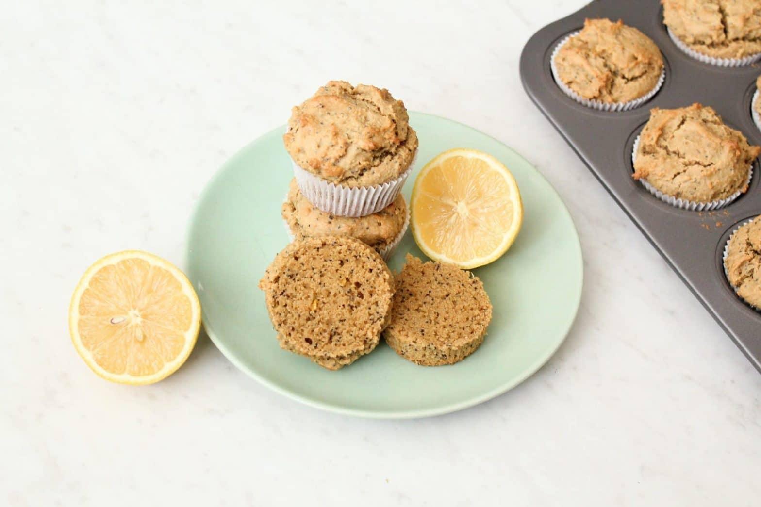 Paleo Lemon Poppy Seed Muffins Recipe (Gluten Free + Grain Free)