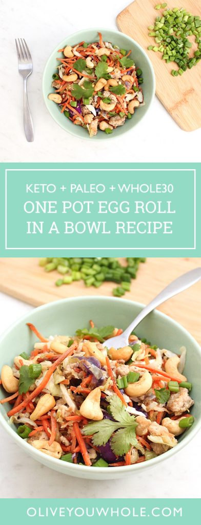 15 Minute One Pot Egg Roll in a Bowl Recipe Keto Paleo Whole30