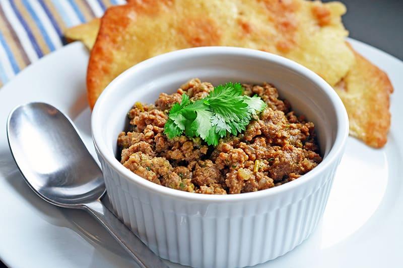 Deconstructed Samosa Spiced Keema | Whole30 Indian Recipes