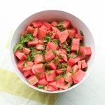 Mint Lime Watermelon Salad Recipe Whole30 Paleo