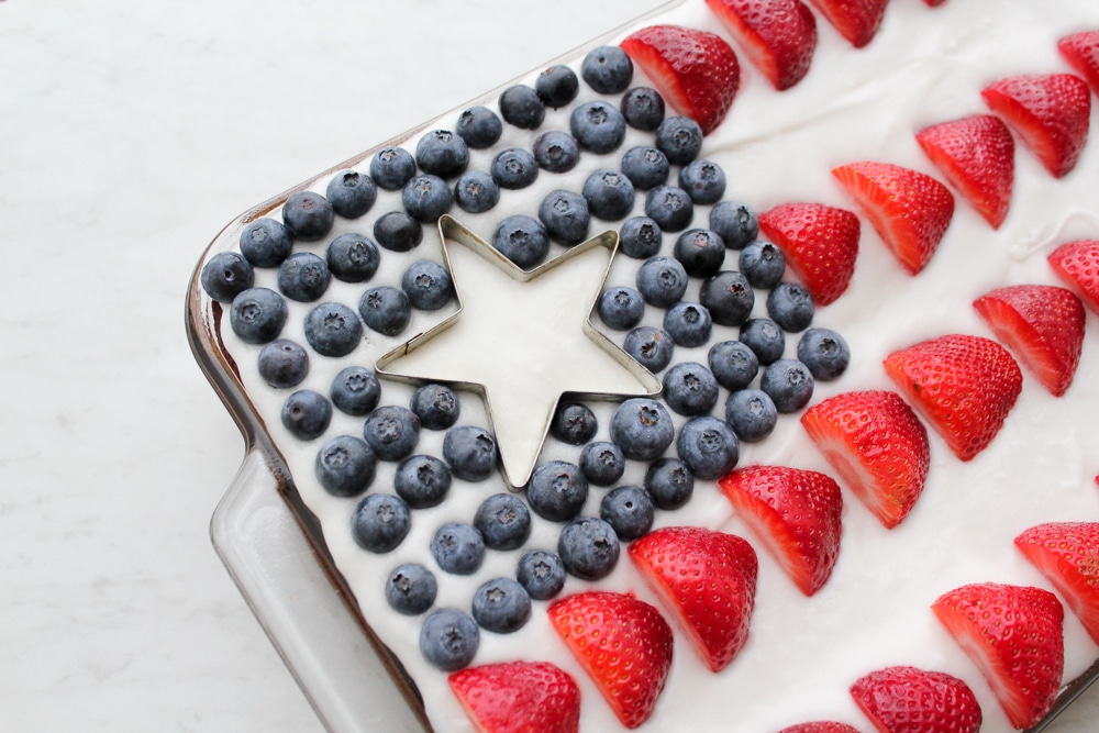 Paleo Flag Cake Recipe + Pictures