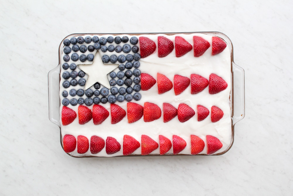 Paleo Flag Cake Recipe + Pictures (Gluten Free + Dairy Free)