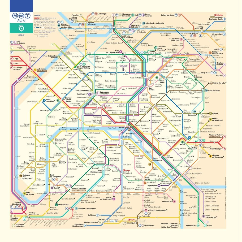 Paris Metro Map 2019