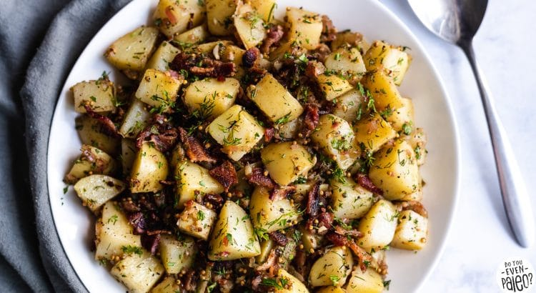 Whole30 + Paleo potato salad recipes | German Potato Salad recipe