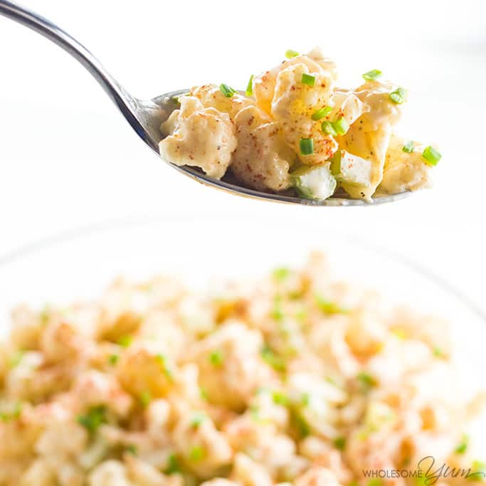 Whole30 + Paleo potato salad recipes | Cauliflower Potato Salad