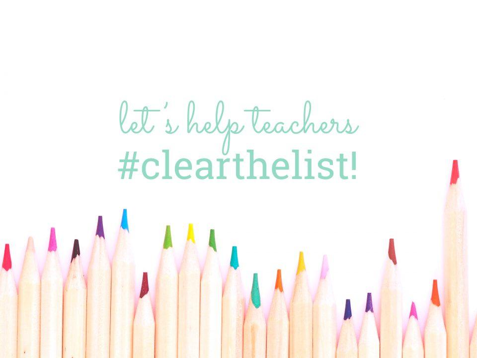 Let's help teachers #clearthelist
