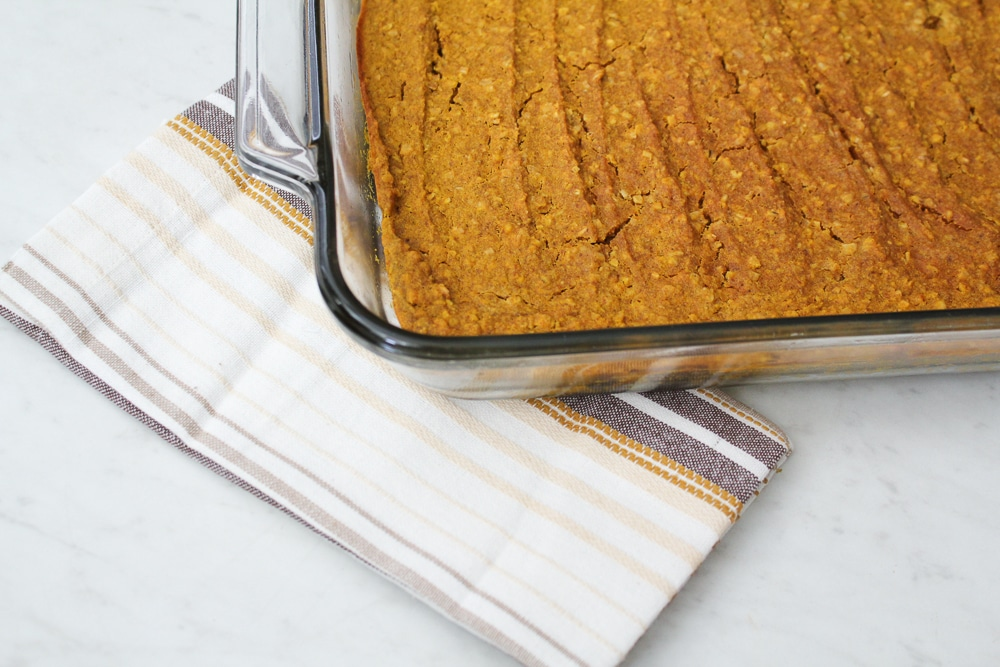 Gluten Free Pumpkin Spice Oatmeal Bars Recipe