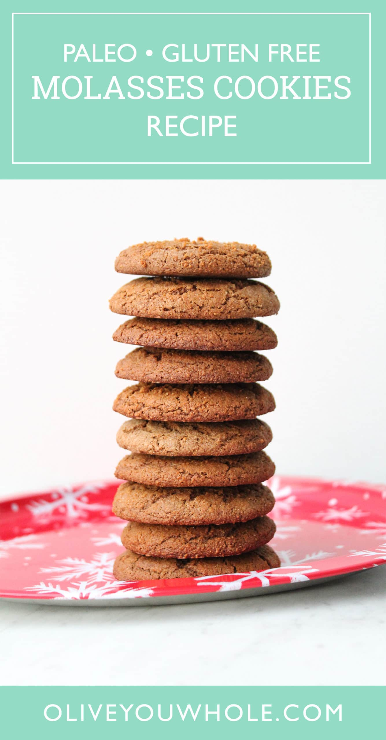 Paleo Molasses Cookies Recipe Pinterest