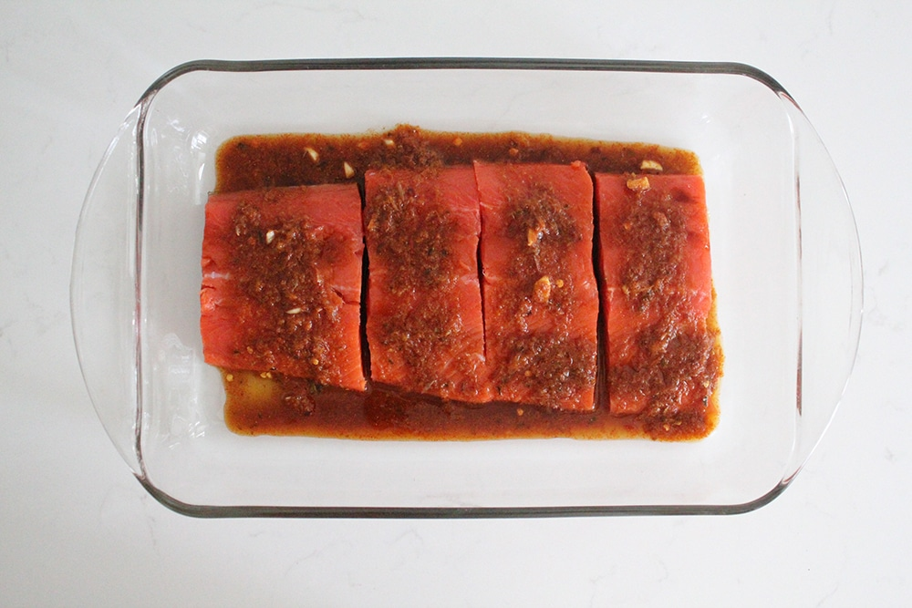 Orange Harissa Salmon Sheet Pan Recipe Whole30 Paleo