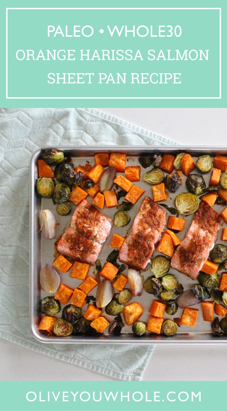 Orange Harissa Salmon Sheet Pan Recipe