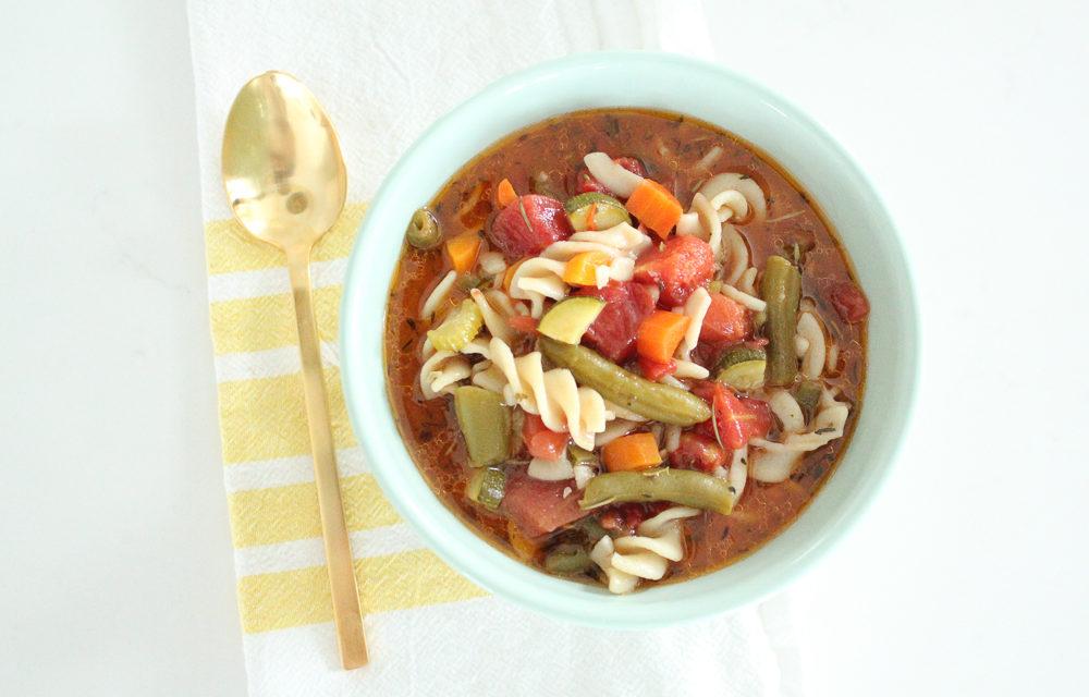 Gluten Free Minestrone Recipe (Vegan + Vegetarian)