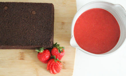 Chocolate Yogurt Cake Recipe with Strawberry Coulis (Gluten Free + Dairy Free)