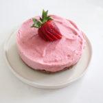 No Bake Strawberry Cheesecake Ice Cream Bars Dairy Free